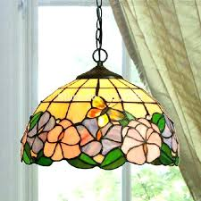 stained glass hanging light vintage pendant lights porch
