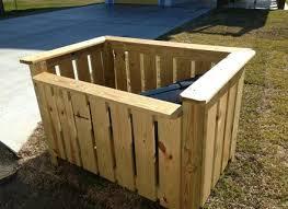wood storage outdoor garbage can holder outdoor designs