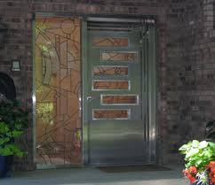 stunning steel entry door with metal frame contemporary exterior