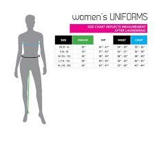 Size Chart Womens Uniforms Century Martial Arts