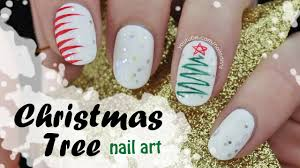 Christmas Tree Nail Art | Simple Squiggle! - YouTube