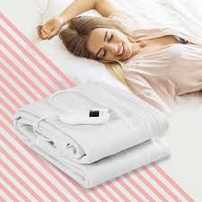 Electric Heated Mattress Pad Safe Full 8 Temperature 10h Timer 0 Costway: