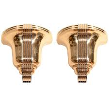 awesome pair of art deco polished bronze sconces art deco wall lightsart deco lightingmodern