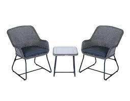 Furniture 3 Piece Bar Height Patio Set  Wicker Bar Height Patio Three Piece Outdoor Furniture