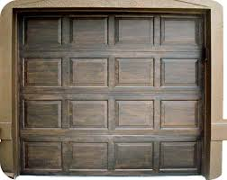 Wood Looking Paint Stained Metal Garage Door Remodel Pinterest Metal Garage