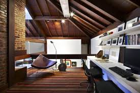 Interior:Pretty Attic Office At Modern House Design Idea Maximizing Attic  Interior Design Ideas