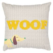 you can also pick up cushions that say woof