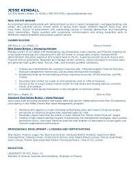 Real Estate Broker Resume .