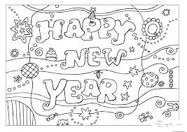Small Picture happy new year 2016 printable coloring pages Free Printable