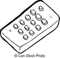 remote control drawing. cartoon remote control drawing