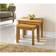 319214 wiltshire nest of 2 oak tables