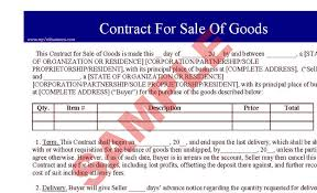 Sale Agreement Forms Contract For Sale Of Goods Business Forms Legal