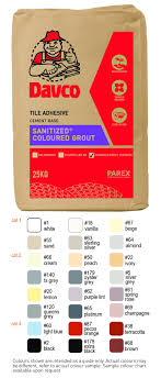 Davco Sanitized Coloured Grout Eco Cfg Parexgroup