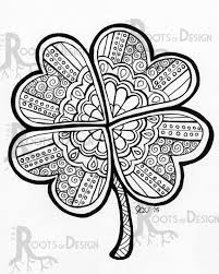Small Picture St Patricks Day Shamrock Instant Downloadable Print This