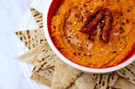 healthy hummus recipe sun dried tomato roasted red pepper