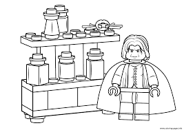 Lego Severus Snape Harry Potter Coloring Pages Printable