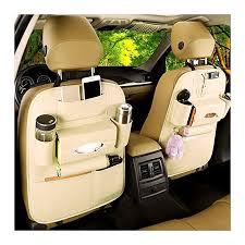libro high quality leather car back seat storage organizer