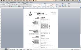 microsoft word menus design templates menu templates wedding menu food menu bar