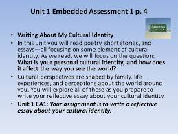 english ii daily warm up have you ever had to  writing about my cultural identity in this unit you will poetry short stories