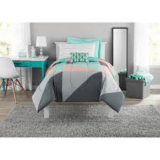 details about gray teal bed in a bag bedding comforter set twin twinxl queen full