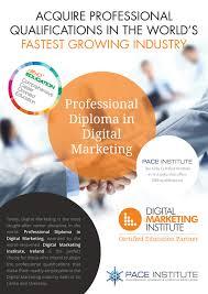 professional diploma in digital marketing pace institute coursenet pace institute