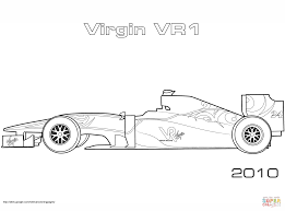 Coloring Page Race Car Ausmalbild Red Bull Rb7 Formel 1 Rennwagen