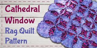 Cathedral Window Rag Quilt Pattern - Sewing For Beginners! & Cathedral Window Rag Quilt Pattern Adamdwight.com
