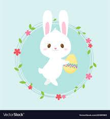 Easter Egg Hunt Poster Cute Rabbit Invitation