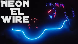 How To Install Flex Led Lights In Car Led Flexible El Wire Strip Neon Glow Light Unboxing And Installation
