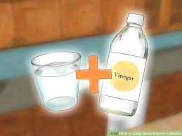 how to clean wood cabinets with vinegar image titled clean wood kitchen cabinets step 1 cleaning