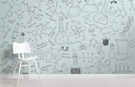 chemistry doodle wall mural
