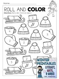 Blizzard Of Winter Ideas Themed Math Worksheets Kindergarten And For ...