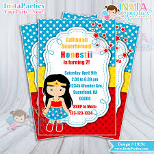 superheroes birthday party invitations wonder woman invitation invitations birthday party invites digital 4