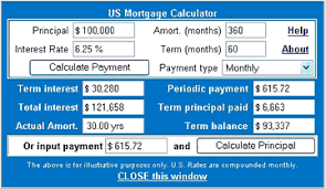 Usmortgage Calculator Us Mortgage Calculator In Javascript And Monthly Loan Calculator
