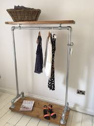 Vintage Industrial Clothes Rail \u0026 Shelf / Wardrobe / Shoe Storage ...