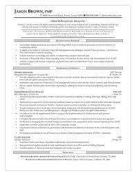 Senior Finance Resume Resume Template Builder Financial Analyst