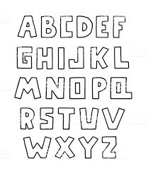 アルファベット落書きデザイン正方形大文字の英語の文字太字のフォント