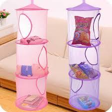 hanging door closet organizer. 3 Shelf Hanging Storage Net Kids Toy Organizer Bag Bedroom Wall Door Closet Organizers Basket For T