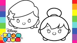 Tsum Tsum Coloring Pages And Cuties Kids Coloring Pages For Make