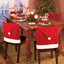 Christmas Dinner Decoration Cap <b>Red 1PCS</b> Christmas Supplies ...