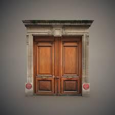 3d wooden door frame turbosquid 1599785