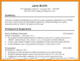 Examples Of Summaries For Resumes 11 12 Writing A Professional Summary Examples Mini Bricks Com