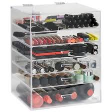 acrylic cosmetic organizer with drawers 10 045 1l sentinel beautify large 6 tier clear makeup organiser