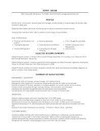 Resume Sample For Restaurant Restaurant General Manager Resume ...