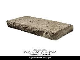 flagstone wall cap stone veneer accessory aspen