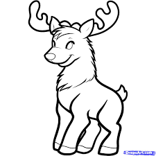 Small Picture How To Draw A Cartoon Deer Step By Step Coloring Coloring Pages