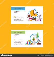 Business Cards Good Kids Shop Children Goods Store Bright Colors