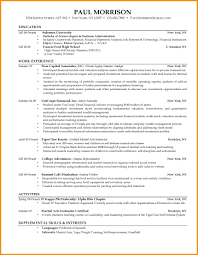 Resume Template For College Students resume Example Of A Nursing Resume 80