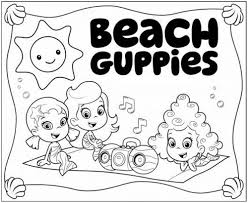 Bubble Coloring Pages Guppies In - glum.me