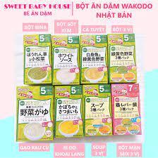 HCM]Bột ăn dặm Wakodo cho bé 5 tháng vị bí đỏ khoai lang Nhật Bản. Date  11/2021 - Sweet Baby House